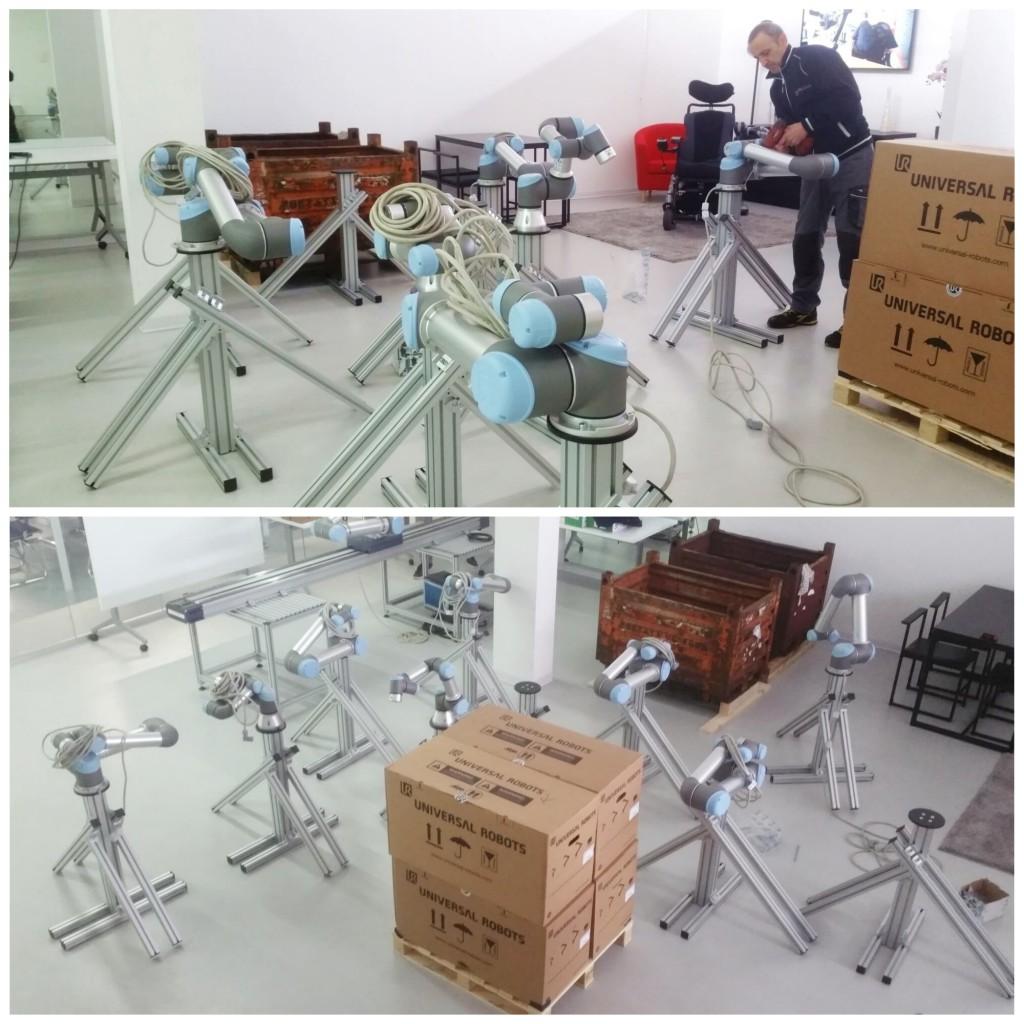 preparazione evento robotica