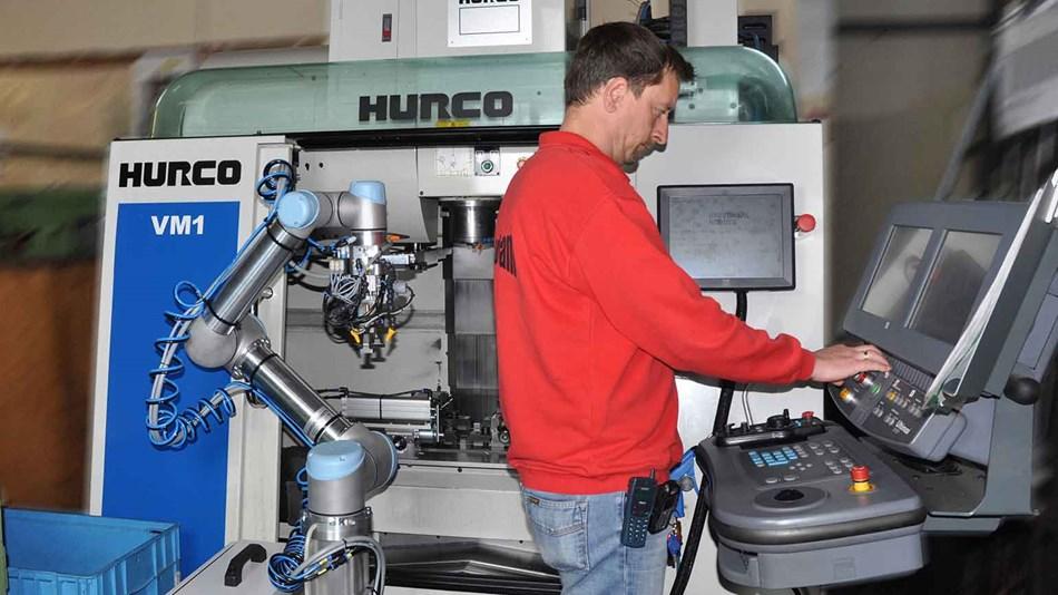robot collaborativo macchine utensili